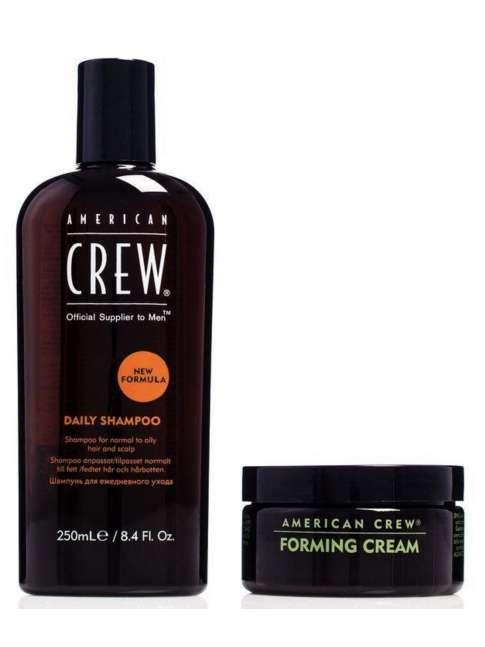 Kit American Crew Daily Shampoo 250 ml + Forming Cream 85 ml