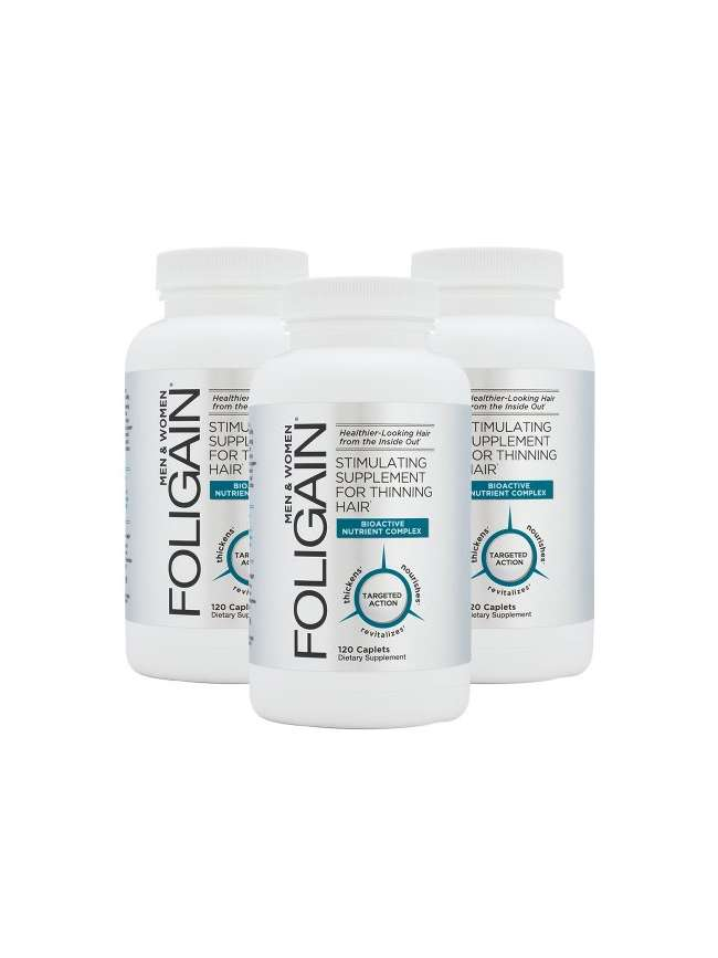 PACK 3 X FOLIGAIN 120 CAPSULAS ANTICAIDA