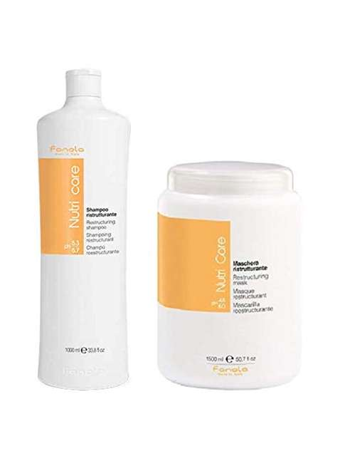 Fanola Nutri Care Champú 1000ml + Mascarilla 1500ml
