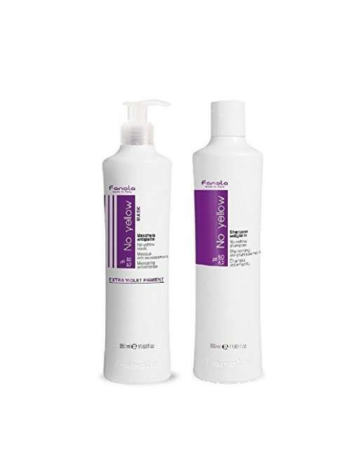 KIT CHAMPU Y MASCARILLA NO YELLOW 350ml FANOLA