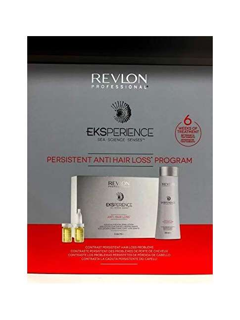 REVLON EKSPERIENCE PERSISTENT ANTI HAIR LOSS PROGRAM SHAMPOO 250 ML. + VITALIZING FILE 12 x 7 ML.