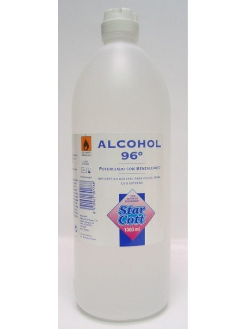 ALCOHOL 96º STAR COTT 1000ML