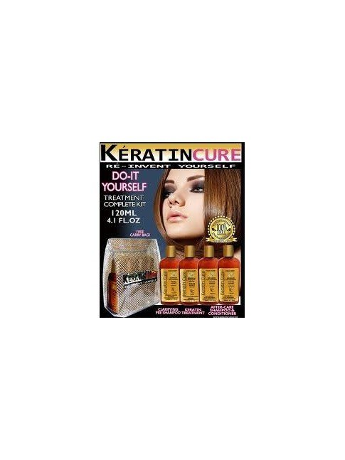 KIT KERATIN CURE ORO Y MIEL 4X120ML