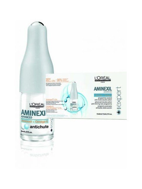 PACK L'OREAL EXPERT ROLL ON AMINEXIL ADVANCED OMEGA 6 ANTICAIDA 20 X 6 ML + CHAMPU 250ML